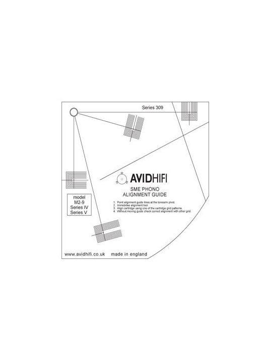 Avid Alignment hangszedő beállító sablon SME hangkarokhoz.