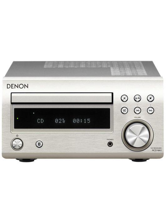 Denon RCD-M41 Sztereó CD-rádióerősítő /ezüst/