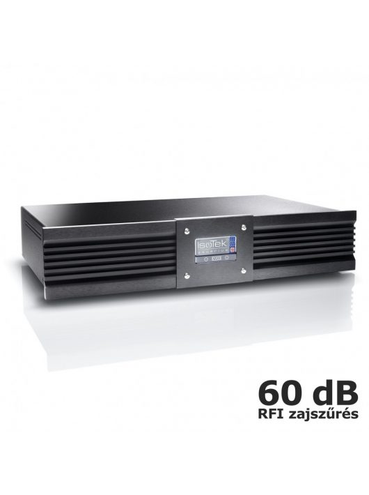 IsoTek EVO3 Aquarius - hálózati tápelosztó és szűrő + IsoTek EVO3 Premier hálózati kábel /Fekete/