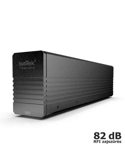IsoTek EVO3 Titan One - hálózati tápelosztó és tápkondicionáló + Premier bemeneti hálózati kábel /Fekete/