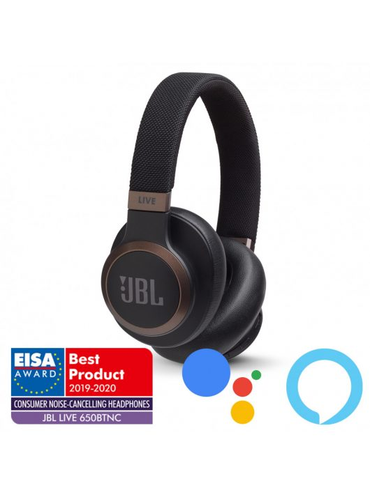 JBL LIVE 650BTNC zajszűrős bluetooth fejhallgató /Fekete/