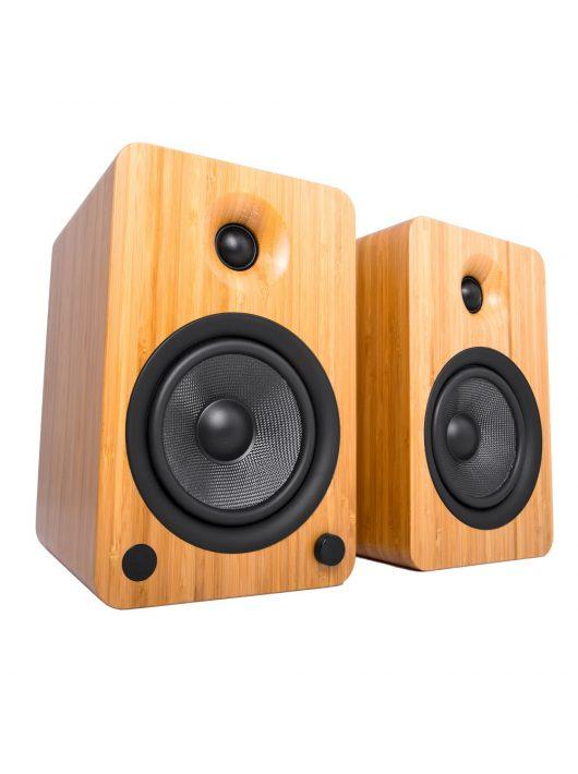 Kanto Audio YU6 Aktív Bluetooth hangfal /Bambusz/