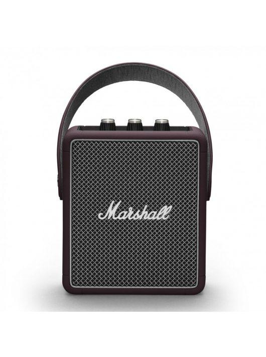 Marshall Stockwell II Bluetooth hangszóró, burgundi