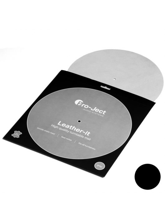 Pro-Ject Leather it LP lemezalátét, fekete