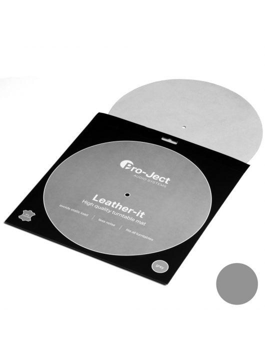 Pro-Ject Leather it LP lemezalátét, szürke