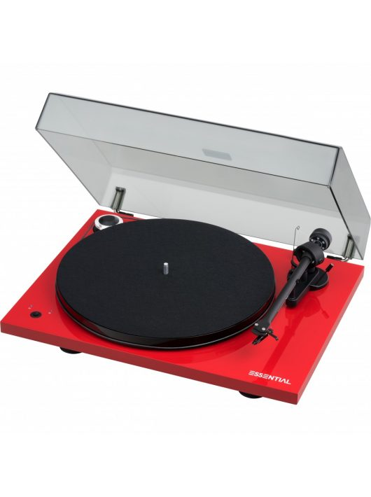 Pro-Ject Essential III SB analóg lemezjátszó /lakk piros/