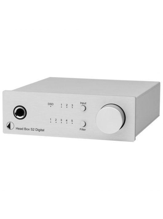 Pro-Ject Head Box S2 Digital fejhallgató erősítő és DSD DAC, ezüst