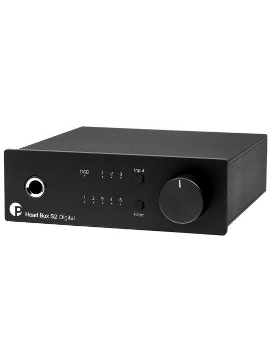 Pro-Ject Head Box S2 Digital fejhallgató erősítő és DSD DAC, fekete