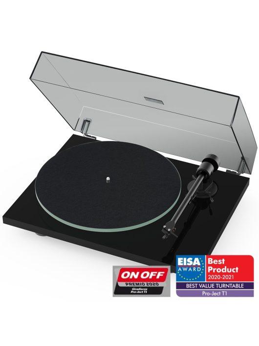 Pro-Ject T1 analóg lemezjátszó + Ortofon OM5 hangszedő /Lakk fekete/
