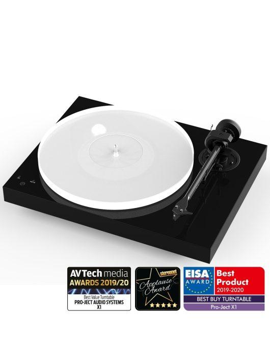 Pro-Ject X1 - új generációs audiofil lemezjátszó / Pick it S2 MM hangszedővel /Lakk fekete - bontott csomagolású