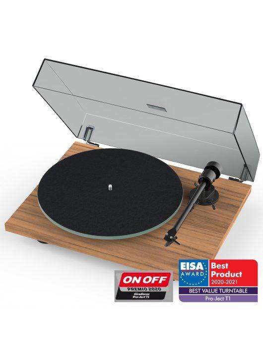 Pro-Ject T1 analóg lemezjátszó + Ortofon OM5 hangszedő /Dió/