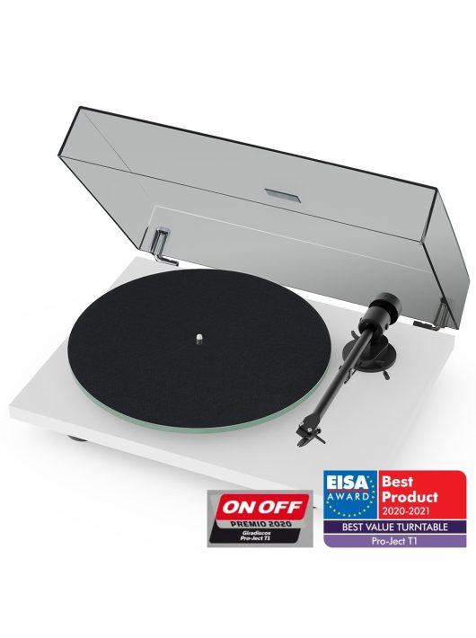 Pro-Ject T1 analóg lemezjátszó + Ortofon OM5 hangszedő /Lakk fehér/