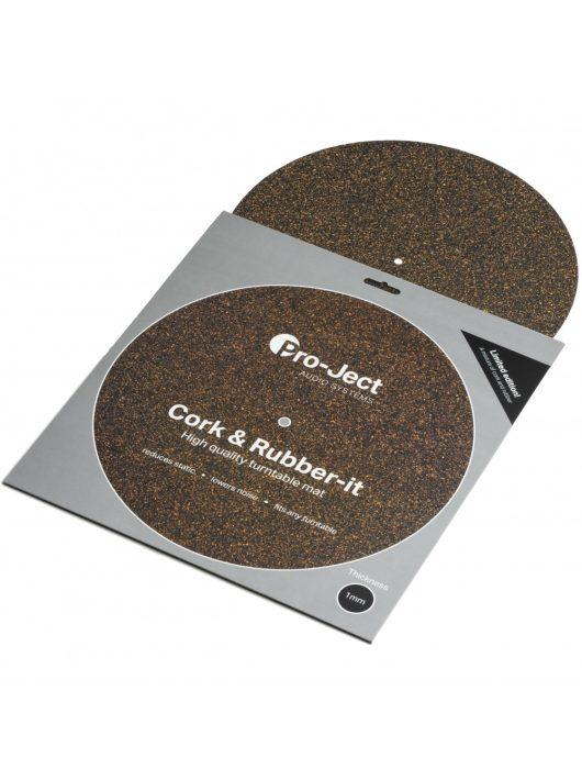 Pro-Ject Cork & Rubber it lemezalátét 1mm-es