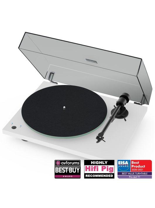 Pro-Ject T1 Phono SB analóg lemezjátszó + Ortofon OM5 hangszedő /Lakk fehér/