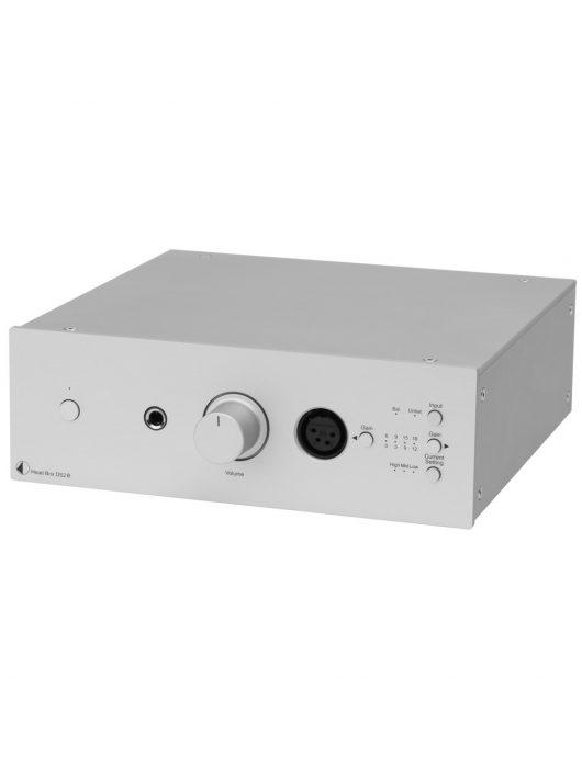 Pro-Ject Head Box DS2 B  high-end, duál mono felépítésű fejhallgató erősítő, ezüst