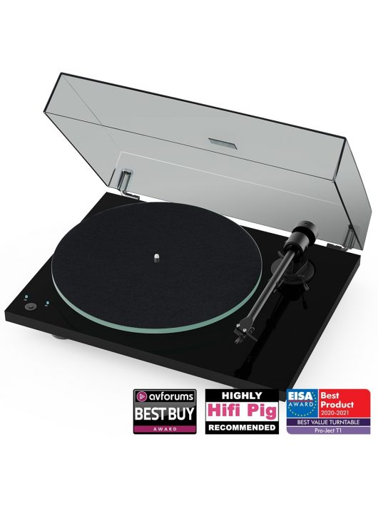 Pro-Ject T1 Phono SB analóg lemezjátszó + Ortofon OM5 hangszedő /Lakk fekete/