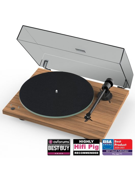 Pro-Ject T1 Phono SB analóg lemezjátszó + Ortofon OM5 hangszedő /Dió/