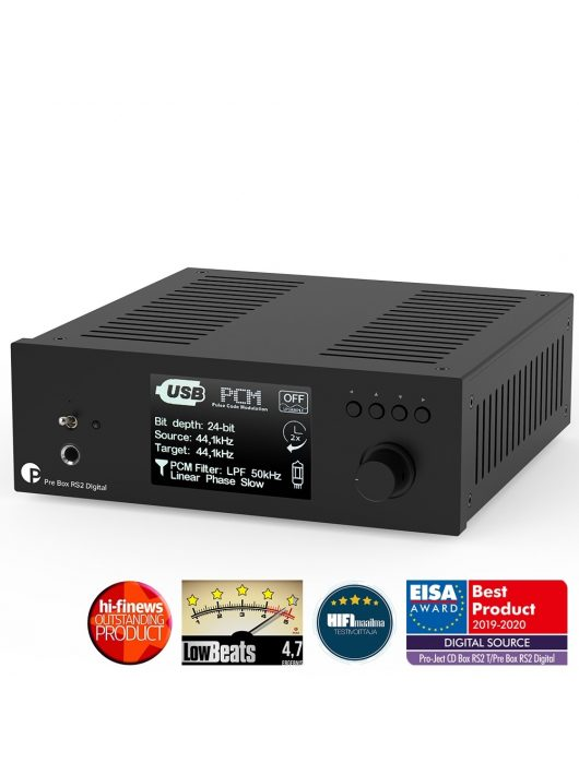 Pro-Ject Pre Box RS2 Digital, fekete