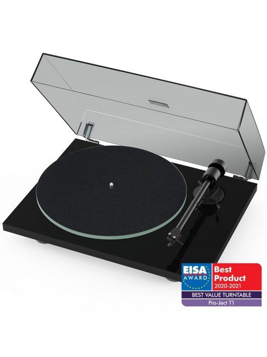 Pro-Ject T1 Bluetooth lemezjátszó + Ortofon OM5 hangszedő /Lakk fekete/