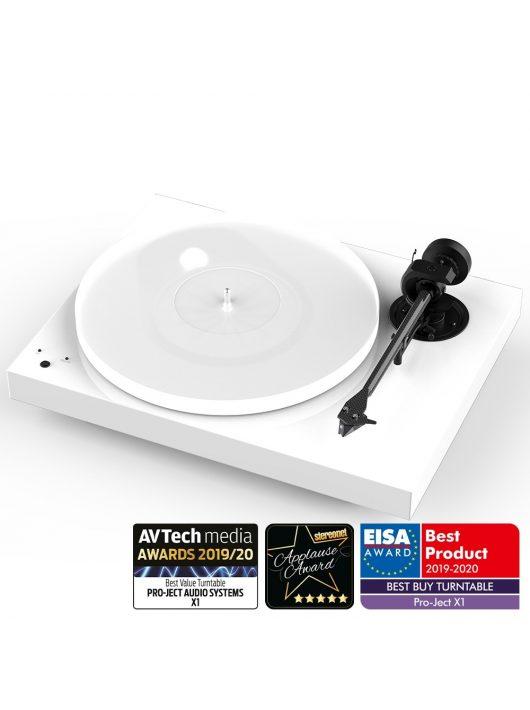 Pro-Ject X1 - új generációs audiofil lemezjátszó / hangszedő nélkül / Lakk fehér