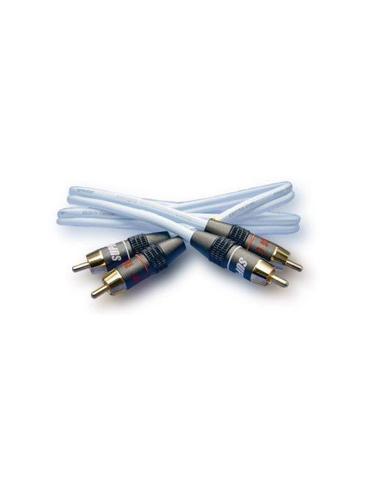 Supra DUAL-RCA/RCA összekötő kábel  1.0 m