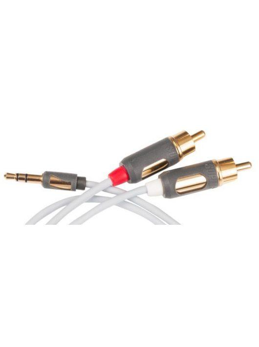 SUPRA MP analóg összekötő kábel 3,5 mm  mini Jack/ 2 RCA - 1.0 m