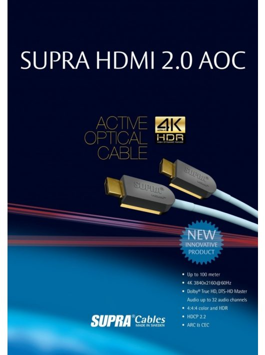 Supra HDMI-HDMI AOC optical  kábel