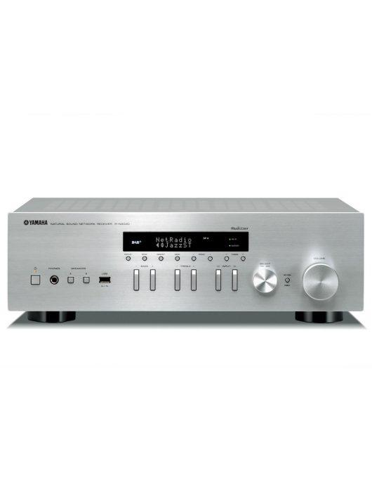 Yamaha R-N402D sztereó rádió/erősítő hálózatos lejátszással (MusicCast), ezüst