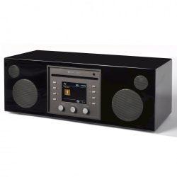 Como Audio Musica, WiFi, multi-room hangszóró CD lejátszóval, lakk fekete