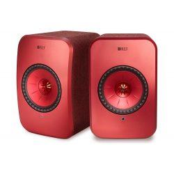 KEF LSX vezeték nélküli, aktív hangsugárzó /Vörös (Maroon)/